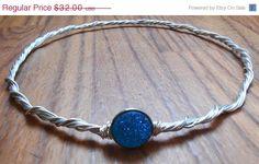 Blue circlet elvish headpiece Elven Circlet by KingsfieldInn