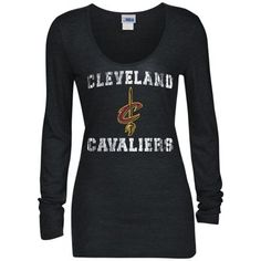 Cleveland Cavaliers 5th  amp  Ocean by New Era Women s Glitter Logo  Tri-Blend Long 46265f0ea