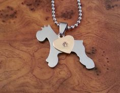 Miniature Schnauzer Pendant Schnauzer Necklace by K9StampArt, $30.00