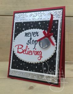 Never  Stop Believing | Stampin\' Up! | Brushstroke Alphanet #literallymyjoy #holidaybell #bell #christmas #silverbell #MerryLittleChristmasDSP #20172018AnnualCatalog