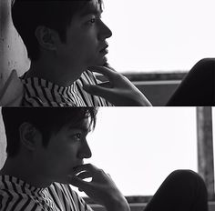Actor Lee Min-ho looks charismatic in black and white