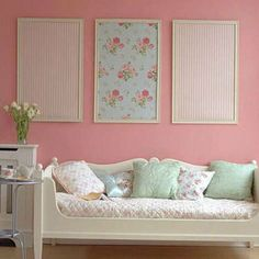 Want unique artwork but you aren't a Picasso? No problem! Frame some of your favorite wallpaper prints and arrange like art to set off your favorite room.