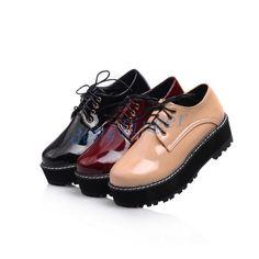 Fashion Womens Flat Creepers Shoes Boot Punk Goth Platform Oxford Fashion Size