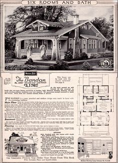 1923 Sears Bandon bungalow. Close to my house's floor plan.