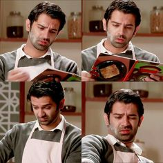When a cute boy is trying to make something for his girlfriend even though he never did something te eat by himself !♥♥♥ he is doing it for LOVE MAN♥♥