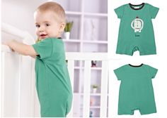 Newborn Infant Baby Boys Short Sleeve Bodysuits Romper Jumpsuit Outfit 0-3M #ibaby