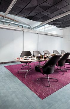 Visual Code is a carpet collection of ten different patterns inspired by the symbiotic relationship of hi-tech and hi-touch. Office Carpet, Coding, Full Eclipse, Flooring, Chair, Table, Inspiration, Furniture, Tech