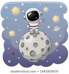 Astronaut Cartoon, Astronaut Drawing, Astronaut Illustration, Astronaut Party, Cute Illustration, Moon Cartoon, Cute Cartoon, Space Party, Space Theme