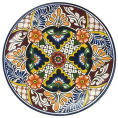 Talavera Hand Painted Mexican Plate - TP2332