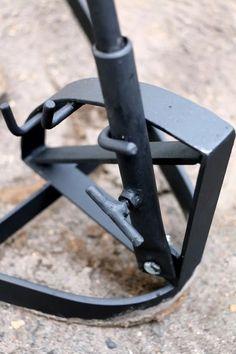 asador criollo muy robusto 50 x 90 cm hierro central 14 mm