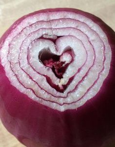 The heart of an onion.