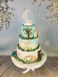 Guess how much I love you , christening cake - Cake by Melanie Jane Sowa