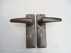 Vintage bakelite lever door #handles art deco #period architectural #antique old,  View more on the LINK: 	http://www.zeppy.io/product/gb/2/191876343802/