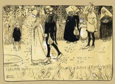 John Bauer (1882–1918) - illustrations from The Crofters and the Gnomes by Anna Wahlenberg