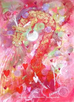 ★**☆Angelic Miracle Energy ~*Angeland*~ by Ere*Maria & many Angels' love★**☆ Angel S, Painting, Painting Art, Paintings, Painted Canvas, Drawings