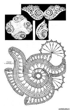 Irish Lace Crochet Diagram: Looks like wings!