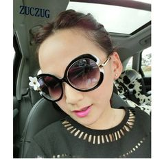 098e4b81a0 2017 Women Fashion Round Butterfly Sunglasses Flowers Frame UV400 Gradient  Lens Women Brand Designer Sunglasses-in Sunglasses from Women's Clothing ...