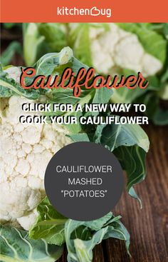 Mashed potatoes and cauliflower are two of our favorites - try making mashed potatoes out of cauliflower! It's easy, really tasty, and you might not even be able to tell the difference. Click the pin for the cauliflower mashed potatoes recipe.