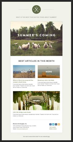 Green Village Newsletter Beautiful Email Newsletters - Email Marketing - Start your email marketing Now. Newsletter Layout, Email Layout, Email Newsletter Design, Business Newsletter Templates, Email Newsletters, Web Layout, Creative Newsletter, Website Layout, E-mail Marketing