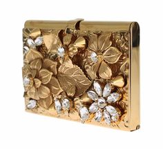 NEW DOLCE & GABBANA Bag Mini Gold Metal Floral Crystal Card Holder Wallet Clutch | Clothing, Shoes & Accessories, Women's Handbags & Bags, Handbags & Purses | eBay!