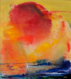 Giclee Print 'Fever' Abstract Bright by ArtbyMicheleZuzalek, $200.00