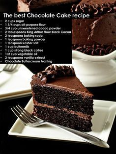 This Moist Chocolate Cake recipe is seriously the best chocolate cake you'll ever make. It's EASY to make & so moist and rich in chocolate flavor! Best Moist Chocolate Cake, Ultimate Chocolate Cake, Amazing Chocolate Cake Recipe, Chocolate Flavors, Chocolate Desserts, Chocolate Cake From Scratch, Chocolate Cake With Coffee, Chocolate Fudge Cake, Chocolate Buttercream