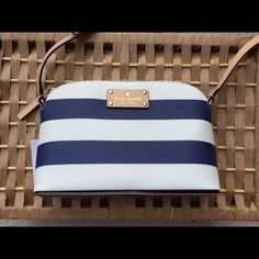 NWT One hour sale, Kate Spade Striped Crossbody This is a brand new, never used Kate spade purse! Tags are still intact with care card! I absolutely love this little purse! Questions welcomed! I will do same day or next day shipping, depending on time of day purchased! kate spade Bags Crossbody Bags