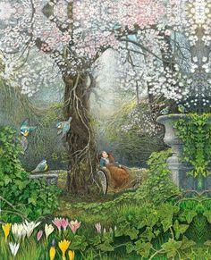 "Inga Moore, The Secret Garden ""The Secret Garden"" is one of my favorite childho. - Inga Moore, The Secret Garden ""The Secret Garden"" is one of my favorite childhood books. The Secret Garden, Secret House, Secret Gardens, Garden Drawing, Garden Painting, Garden Art, Garden Design, Garden Ideas, Art And Illustration"