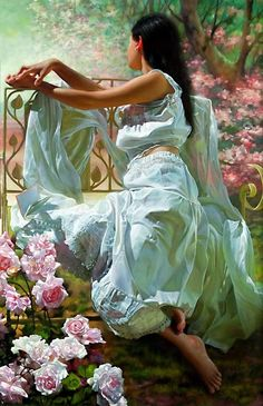 25 Beautiful Oil Paintings by Andrei Belichenko - Woman, Garden and Dreams Woman Painting, Figure Painting, Painting & Drawing, Master Of Fine Arts, Painted Ladies, Wow Art, Art Themes, Beautiful Paintings, Female Art