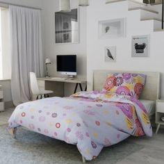 Krepové povlečení žluté červené růžové bílé ohňostroj květiny květy moderní mandala Comforters, Blanket, Bed, Furniture, Home Decor, Lily, America, Creature Comforts, Quilts