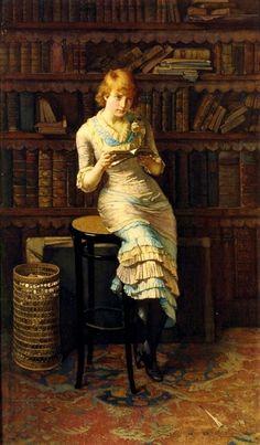 Pensamentos, 1883 John Henry Henshall (Inglaterra, 1858-1926) óleo sobre tela, 135 x 78 cm