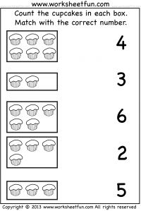 Count and Match – One Worksheet