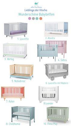 Klicke hier für 11 wunderschöne Babybetten in Pastellfarben