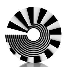 optical art, black and white, stripes art, 60's art, minimal art, circle art,