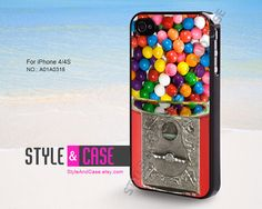 iPhone 4 case, iPhone 4S case, Candy Gumball Machine, iPhone case, case for iPhone, A01A0318