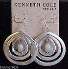 Kenneth Cole Semi Precious in 3 Multiple Hoops Earrings - Cole, Earrings., HOOPS, Kenneth, Multiple, Precious, Semi - http://designerjewelrygalleria.com/designer-jewelry-galleria/kenneth-cole-semi-precious-in-3-multiple-hoops-earrings/