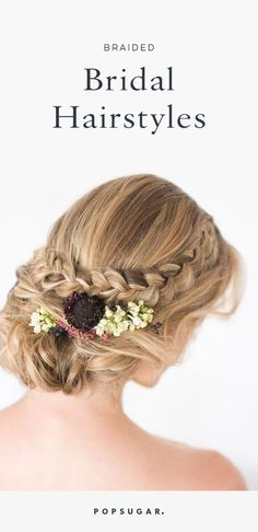 Consider these braids as a stunning wedding hairstyle.