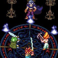 Chrono Trigger Magus Battle T-shirt Chrono Trigger, Demon King, Bella Canvas, Akira, Pixel Art, Battle, Video Games, Shoulder Taping, Spun Cotton