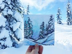 Nikki Frumkin Paints in the Snow While You Watch Netflix