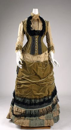 Dress c.1878 (Front) From The Metropolitan Museum Of Art