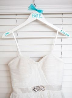 Use a Turquoise V Razon Point Marker Pen to make your own wedding dress hanger! :)