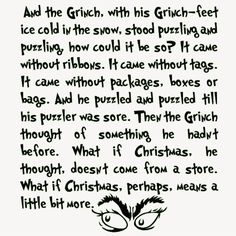How the Grinch Stole Christmas Quote