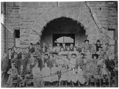 Weatherford College students: Class of 1903 with Sam Johnson and William Hood Simpson. Photo taken in Weatherford, Texas. Weatherford College, Graduating Class, College Students, History, Graduation, Moving On, Historia, Graduation Day, College Graduation