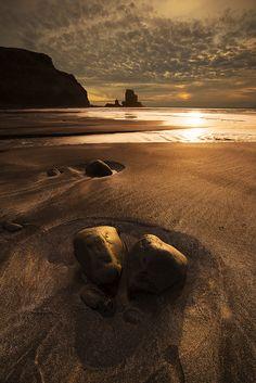 Sunset in Talister Bay Isle Of Skye Scotland