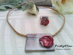Fio e anel em Fusing - Pretty4You Bijuteria.