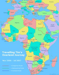 travel route map london to cape town an overland journey through africa