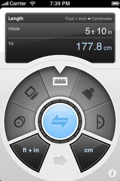 Convertbot App | Many utilities are breaking out of the conventional iPhone UI to take advantage of the device's unique ability to respond to finger gestures. Many of these have hardware-ish interfaces that users are familiar with but come with perpetually shiny exteriors and clicks and pops that maintain their newness from the first to one-thousandth click.
