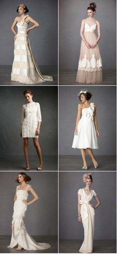 BHLDN. aka Urban Outfitters + Anthropologie for Brial Wear. A bit pricey. but for the customers at these stores you wont be disappointed. Unique/Urban/Romantic. If you want to stand out. These are some pieces to choose.  www.BHLDN.com