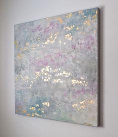 "Art by Kellie Morley | ""Awakening"" | 36x36 | Acrylic with gold leaf"