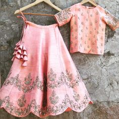 How adorable is this customized order for a 7 year old ? A fresh blush pink lehe. - How adorable is this customized order for a 7 year old ? A fresh blush pink lehenga with an embroid - Indian Lehenga, Kids Lehenga Choli, Raw Silk Lehenga, Lehenga Blouse, Pink Lehenga, Bridal Lehenga, Lehenga Designs, Mode Bollywood, Party Kleidung